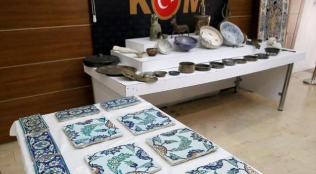 Bizans, Selçuklu ve Osmanlı dönemine ait 78 parça tarihi eser ele geçirildi