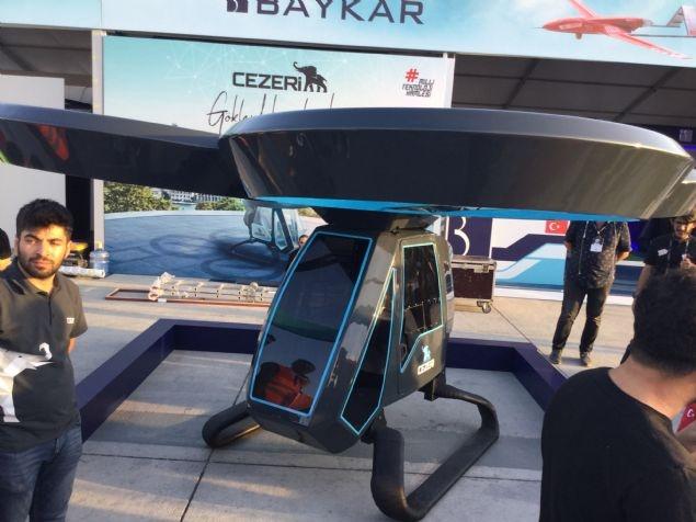 Cezeri Uçan Araba, TEKNOFEST İstanbul'da sergilenmeye başlandı.