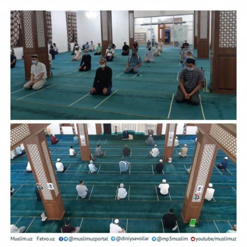 80 günlük karantinadan sonra, Özbekistan'da camiler çalışmaya başladı