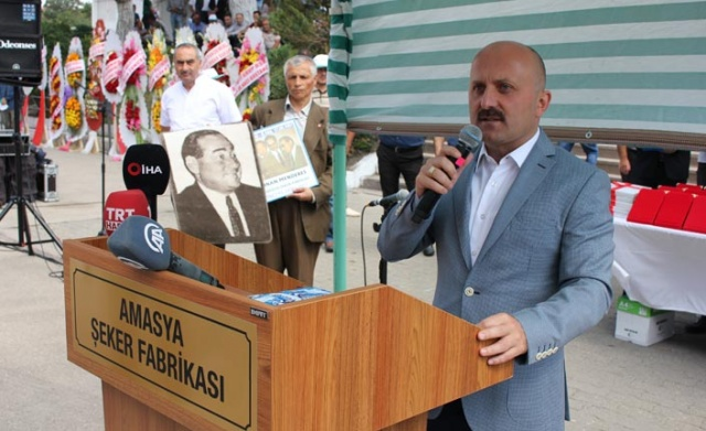 Amasya Şeker Fabrikası'nın 66. pancar alım kampanyası, Suluova'daki tesislerde düzenlenen törenle başladı.