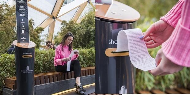 İngiltere'nin en kalabalık şehri olan Londra'da, şehir hayatının okumaktan uzaklaştıran yoğunluğunda stres atmak ve okumaya teşvik için, hikâye otomatları kullanılmaya başlandı…
