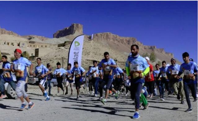 Bamiyan'da uluslararası maratonu koşuluyor