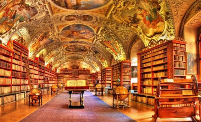 Strahov Manastır Kütüphanesi, dünyanın en güzel kütüphanelerinin başında geliyor