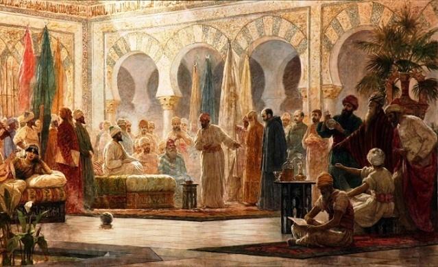 1374 ile 1375 yılları arasında İbn Haldun İbnu'l Hatip'in eski düşmanı İbn Zamrak için çalıştı. Ancak İbn Zamrak, İbn Haldun'un İbnu'l Hatip'in hayatını kurtarmak için başarısız bir teşebbüsü olduğu öğrenince, bir kez daha Ebu Meyden tekkesine sığınmak zorunda kaldı. İbn Haldun ve ailesi tamamen bağımsız olan Evlad-u Arif'in himayesinde güven içinde dört yıl kaldılar. Burada yazmaya başladığı Mukaddeme'nin ilk hâli bitmiş, hatıralarını kaleme almaya başlamıştı. Eğer kendisini yiyip bitiren ateşli bir hastalığa yakalanmasaydı bu kalede daha uzun bir süre kalabilirdi ama tıbbi ihtiyaçları nedeniyle kaleden ayrılmaya karar verdi. Ayrıca sıla hasreti nedeniyle de ata yurdu dediği Tunus'a dönmek istiyordu.
