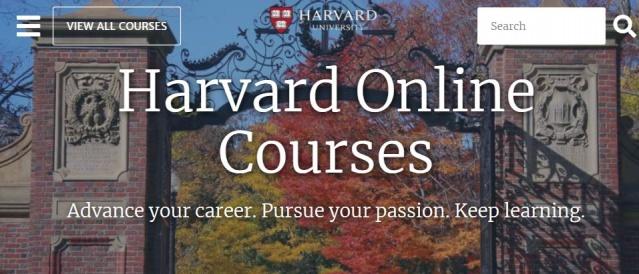 1- Harvard Üniversitesi'nden sertifika alabileceğiniz 55 alanda ücretsiz online kurslar: https://online-learning.harvard.edu/