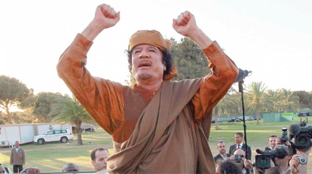 Bugün Libya lideri Muammer Kaddafi'nin yakalama ve öldürülmesinin yıl dönümü.
