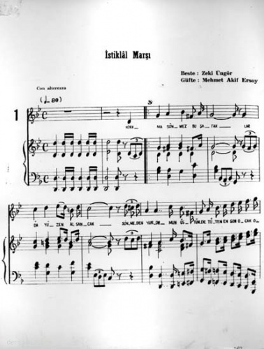 İstiklal Marşının bugün söylenmekte olan bestesi