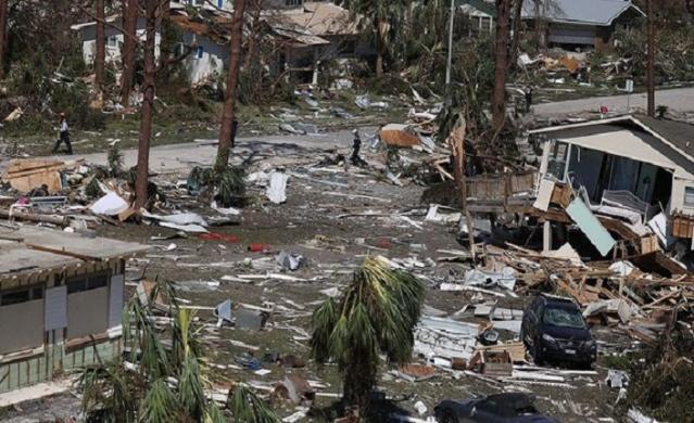 Kasırgadan en fazla Mexico Beach'in etkilendiği belirtiliyor