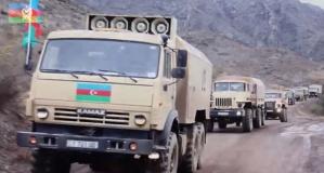 Azerbaycan ordusu Laçın'da! İşte son görüntüler