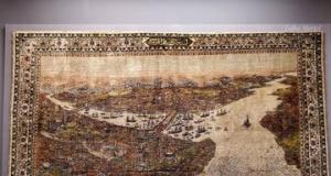 İpek halıda İstanbul tasviri
