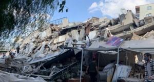 İzmir'de yaşanan 6,6'lık depremde ilk görüntüler