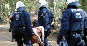 Maden protestosunda operasyon durduruldu