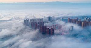 Çin'in sisler altındaki şehri