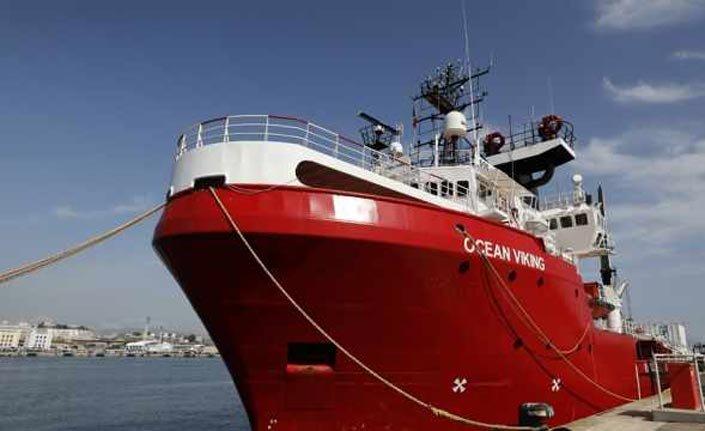 Göçmen Gemisi Ocean Viking'tekiler Avrupa'ya dağıtılacak