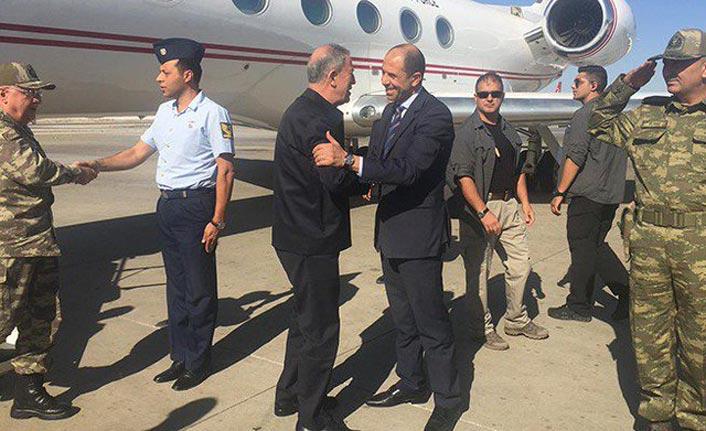Millî Savunma Bakanı Akar ve beraberindeki heyet KKTC'ye gitti