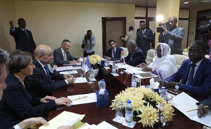 Fransa Dışişleri Bakanı Sudan'da