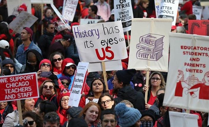 Chicago'da öğretmenler grevde