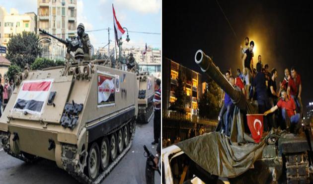 Mısır darbesi ve Türkiye'deki darbe girişiminin kısa mukayesesi