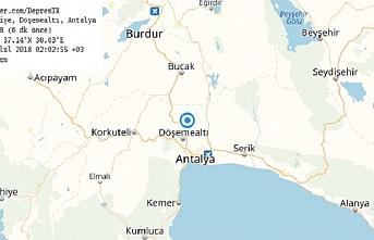 Antalya'da 4,8 büyüklüğünde deprem