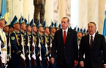 Erdoğan ile Nazarbayev'in masasında ortak hedefler var
