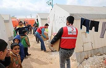 Kızılay'dan İdlib ve Lazkiye kırsalına 1 ayda 145 araç