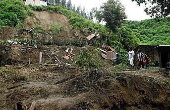 Endonezya'da heyelan meydana geldi