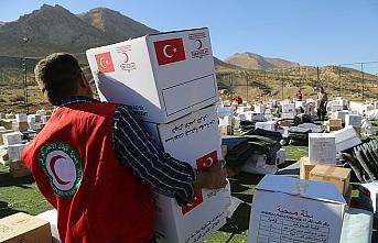 Erbil'deki selzedelere Kızılay el uzattı