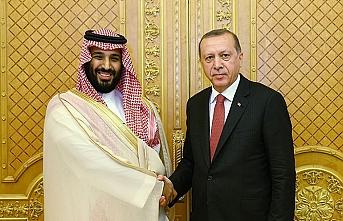 Erdoğan Prens Selman'la görüştü