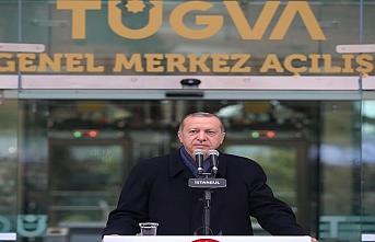 Erdoğan, TÜGVA açılışında gençlere ümit verdi