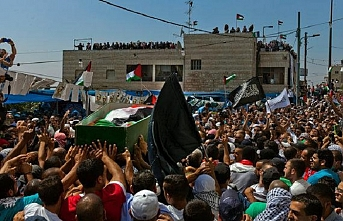 Genç Filistinli son yolculuğuna uğurlandı