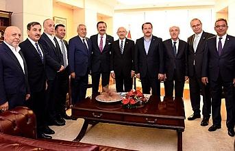 Kılıçdaroğlu sendika ve STK liderleriyle görüştü