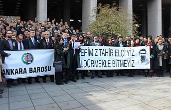 Ankara adliyesinde Tahir Elçi için basın açıklaması