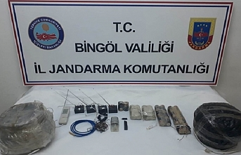 Bingöl'de patlayıcı yapımında kullanılan malzeme ele geçirildi