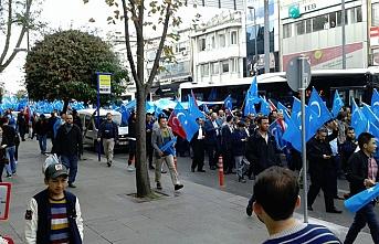 Doğu Türkistan'daki Çin zulmü İstanbul'da protesto edildi