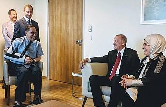 Erdoğan, Enver İbrahim'i kabul etti