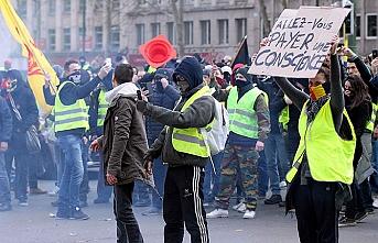 'Sarı yelekliler' için sıra Brüksel'de