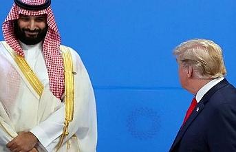 """Trump Veliaht Prens ile """"kısaca selamlaştı"""""""