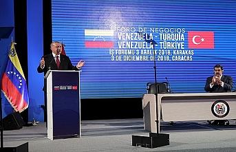 Ambargo altındaki Venezuela'da küresel ticaret sistemini eleştirdi