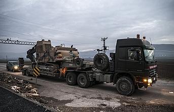 Suriye sınırına bu kez iş makinesi ve konteyner