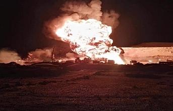 Yanan petrol kuyusu 12 saattir söndürülemedi