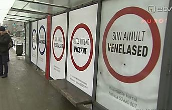 Estonya'da azınlık Rusların tepkisini çeken afiş