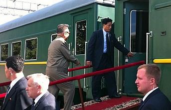 Kim'in treni Pekin'e yanaştı