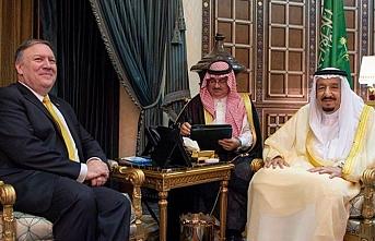 Suudi Arabistan kralı Pompeo ile görüştü
