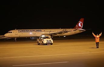 THY uçağı, Süleymaniye Uluslararası Havalimanı'na indi