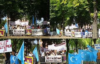 Belçika'da Doğu Türkistan protestosu