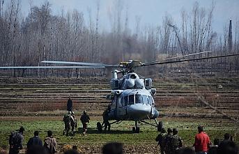 Keşmir'de Hindistan'a ait helikopter düştü, 6 ölü
