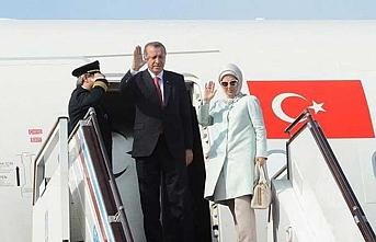 Cumhurbaşkanı Erdoğan Üçlü Zirve için gitti
