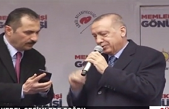 Erdoğan'a mitingi bıraktıran telefon