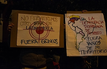 Kolombiyalılar ABD'yi protesto etti