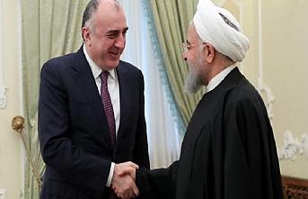 Azerbaycan Dışişleri Bakanı Ruhani ile görüştü